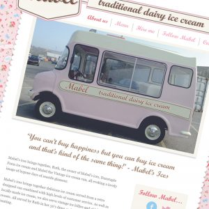Mabel's Ices Website Design